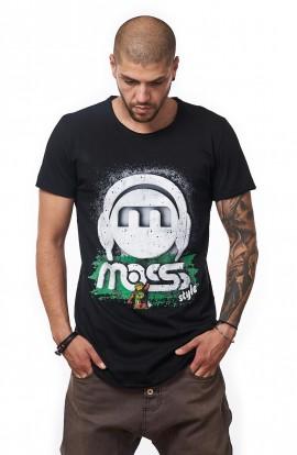 Tricou Negru Barbati - MOSS Style Green - Design Unic Si Original