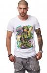 Tricou Alb MOSS - Imprimeu Vinyl Guy Green - #vreausaajut