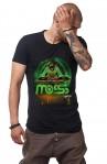Tricou Negru Barbati - MOSS One DJ Green - Design Unic Si Original