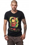 Tricou Negru MOSS - Imprimeu Dj Mc Orange - #vreausaajut