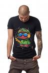 Tricou Negru MOSS - Imprimeu Skater Boy Green - #vreausaajut